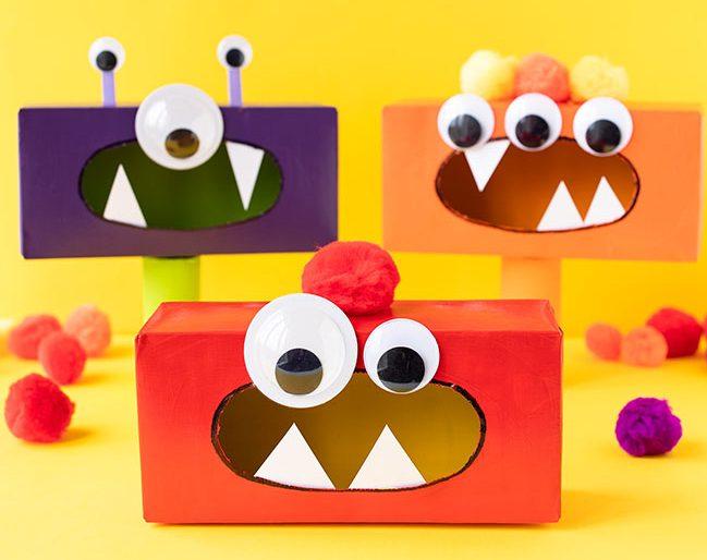 Tissue box monster craft idea