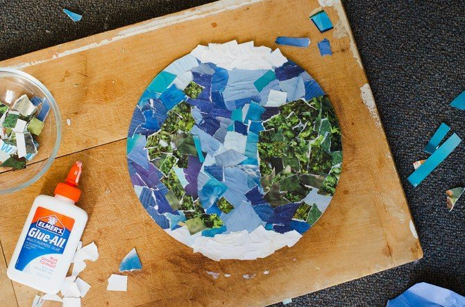 Earth collage for children art project
