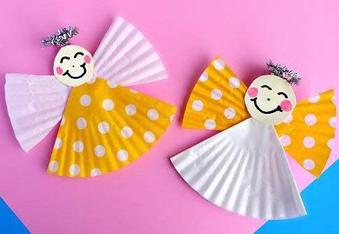 cupcake case angel craft idea