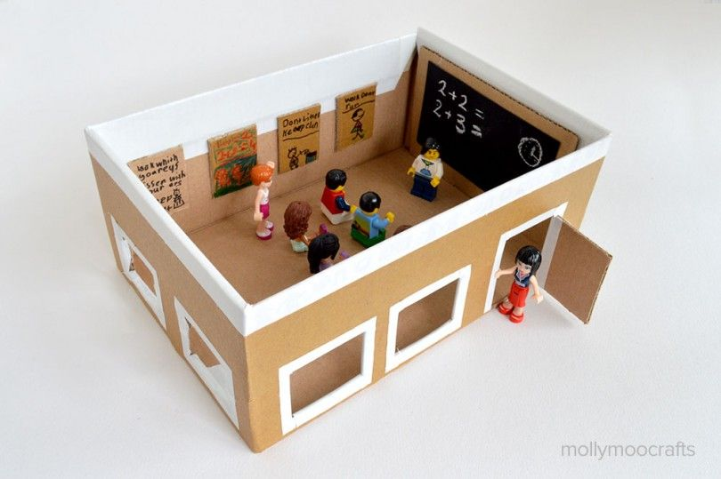 Shoe box craft idea for kids in holidays