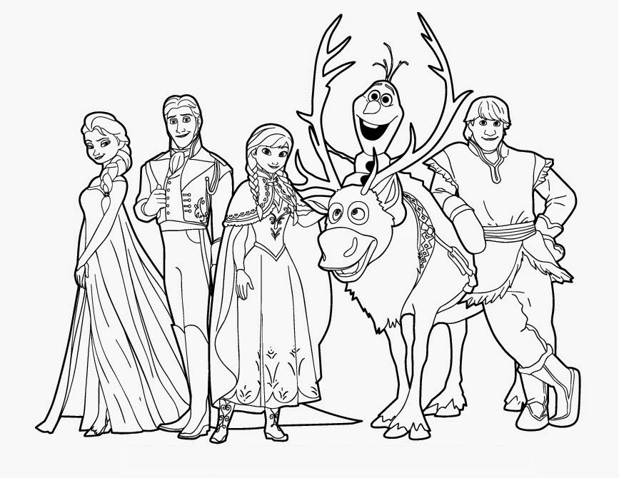 Frozen colouring page printables for kids