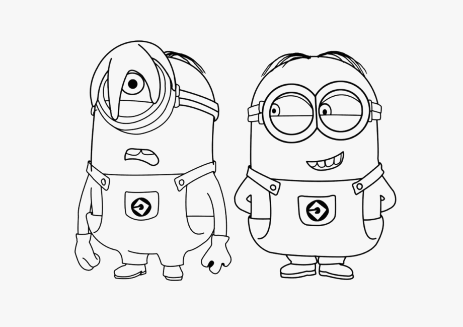 Astronaut minion colouring in page