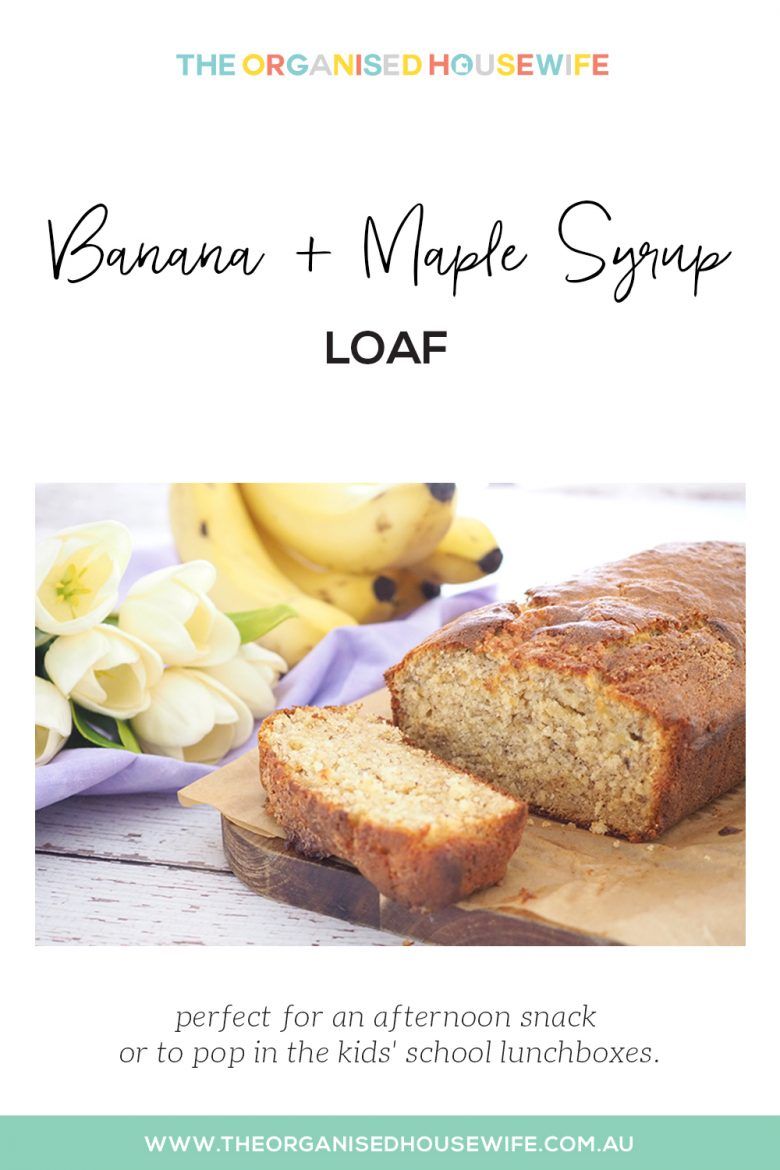 Banana and Maple Syrup Loaf