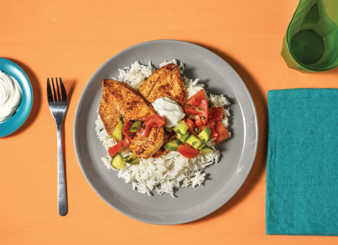 Indian Spiced Chicken with Rice