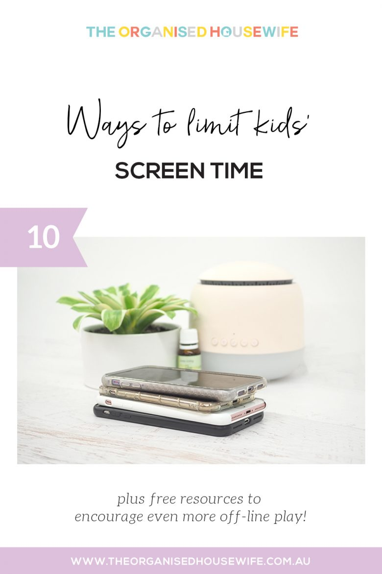 Tips for limiting kids screen time