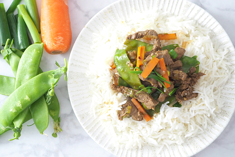 Sesame Beef and Vegetable Stir Fry