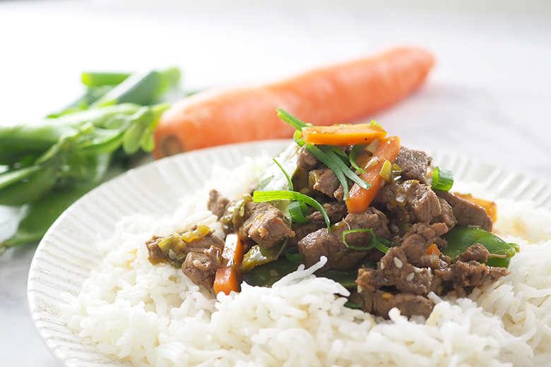 rice and beef stir fry dinner idea