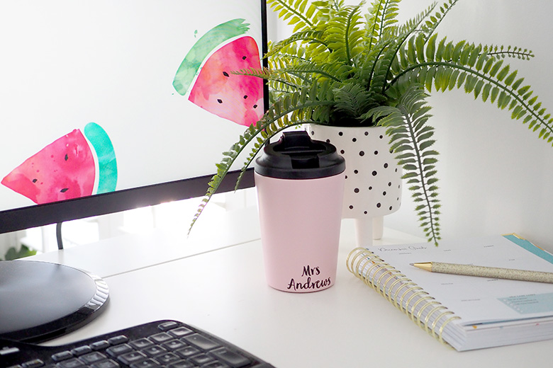 Teacher gift ideas - personalised coffee cups