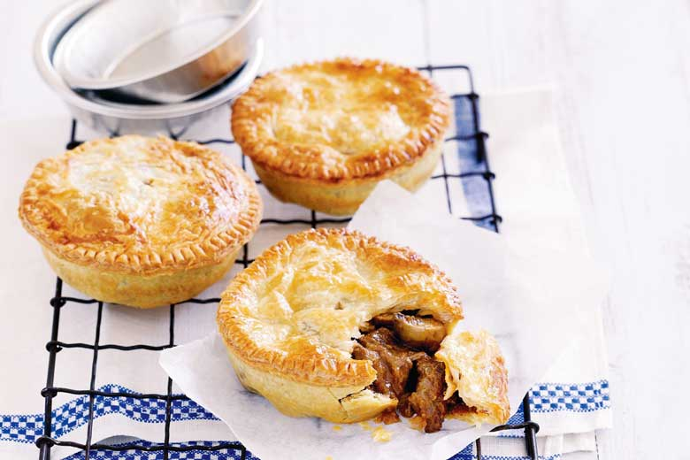 Beef pies for dinner