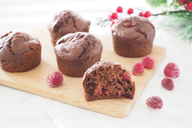 Chocolate raspberry muffins recipe