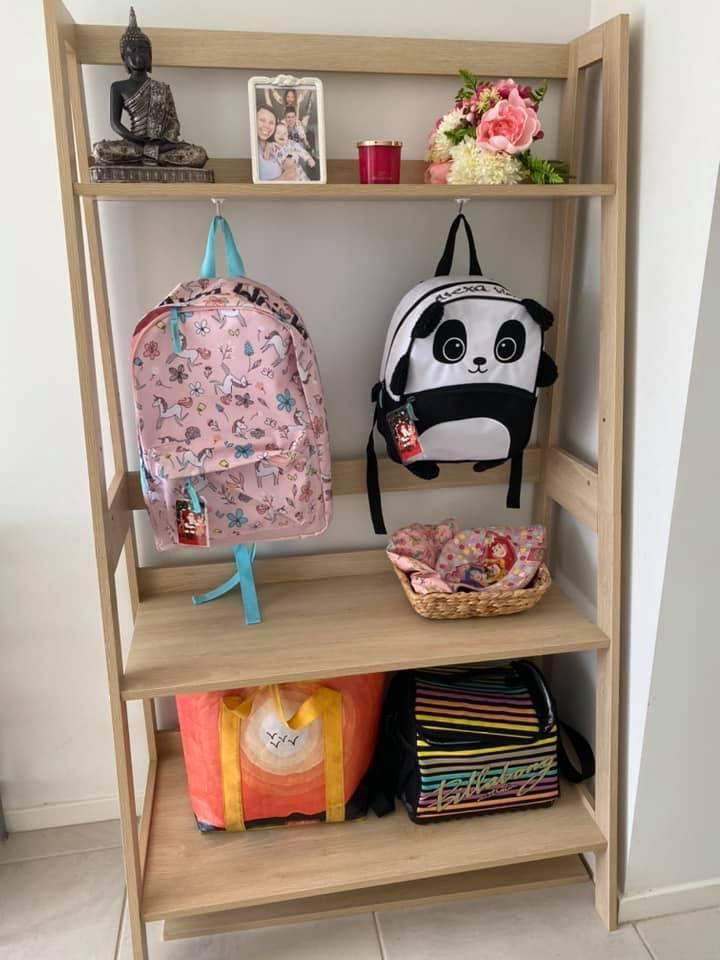 Kmart Hack school bag storage