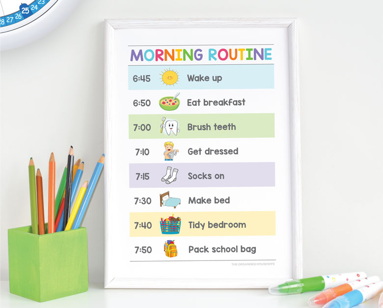 routine charts for school mornings