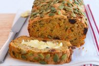 carrot, date and zucchini loaf for after school snack