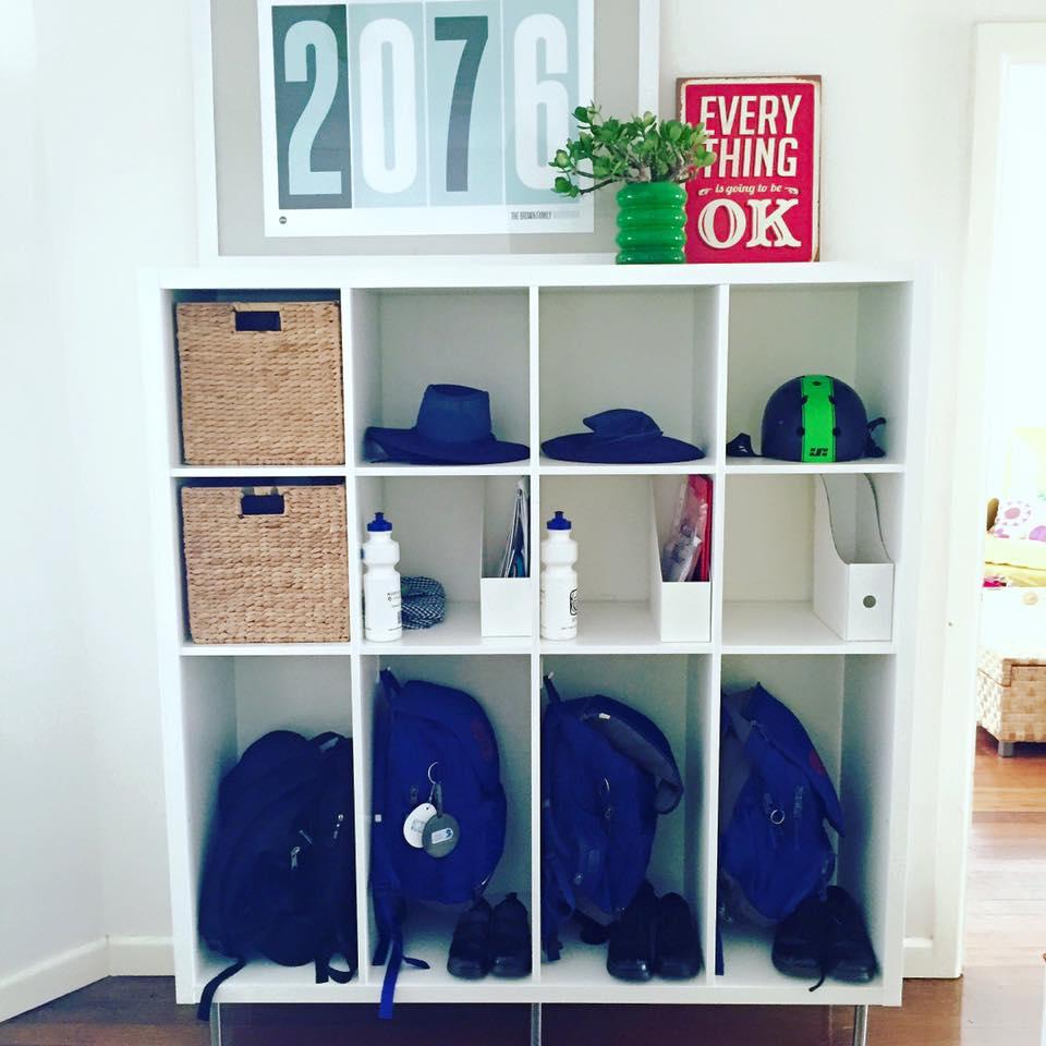 Ikea Hack School Bag Storage