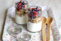 after school snack idea - yoghurt, fruit muesli cups