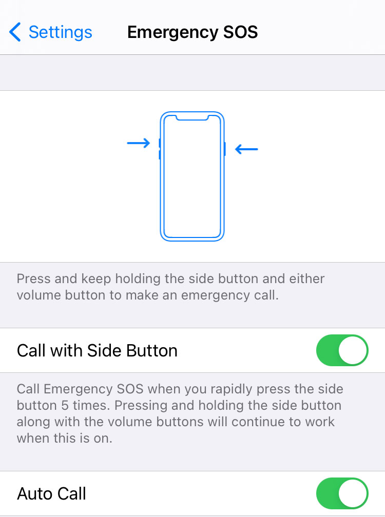 Emergency SOS iPhone safety feature