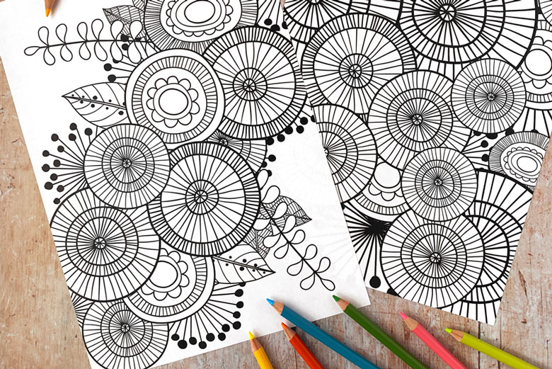 free printable adult colouring in pages