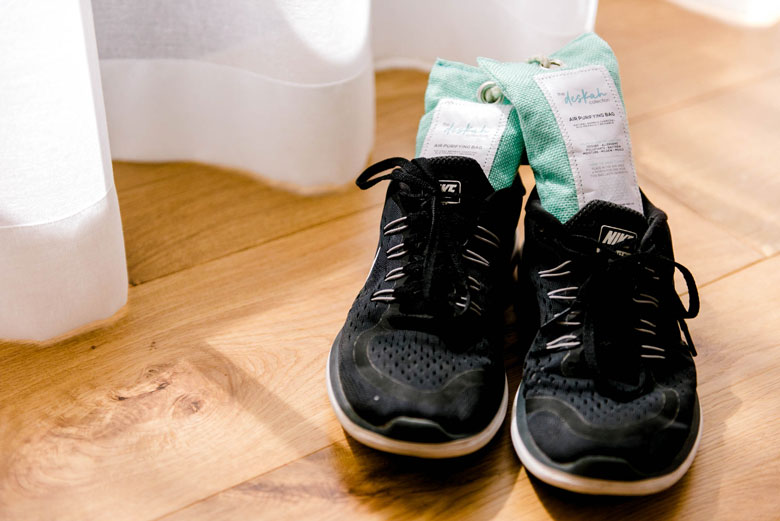natural odour absorber for shoes
