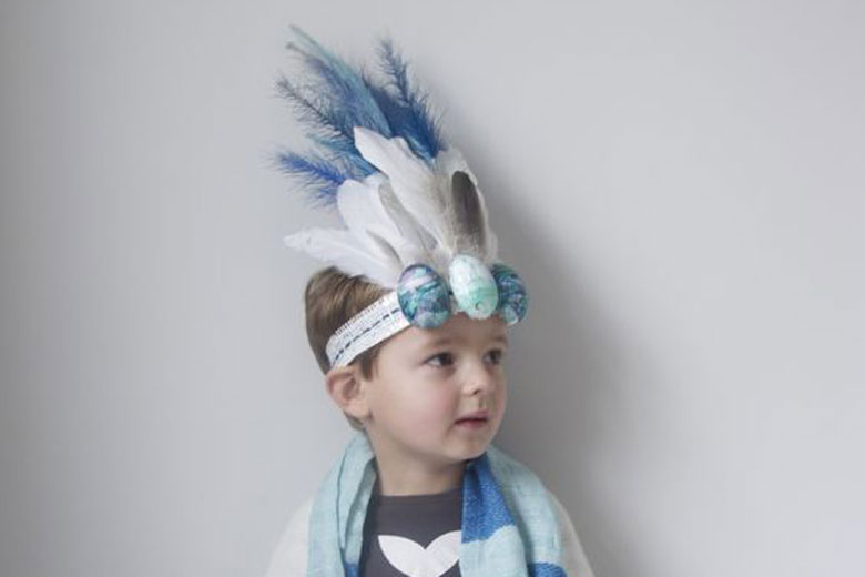 feather easter bonnet for boys