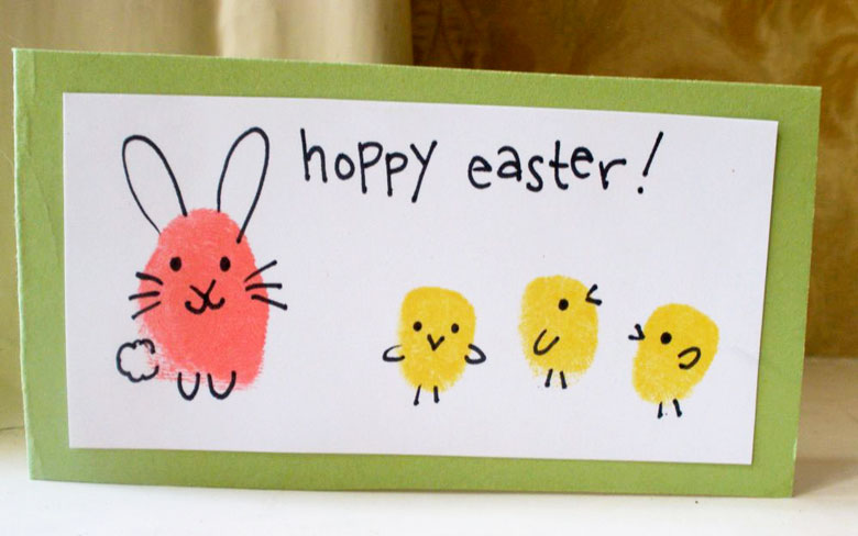Fingerprint easter craft idea