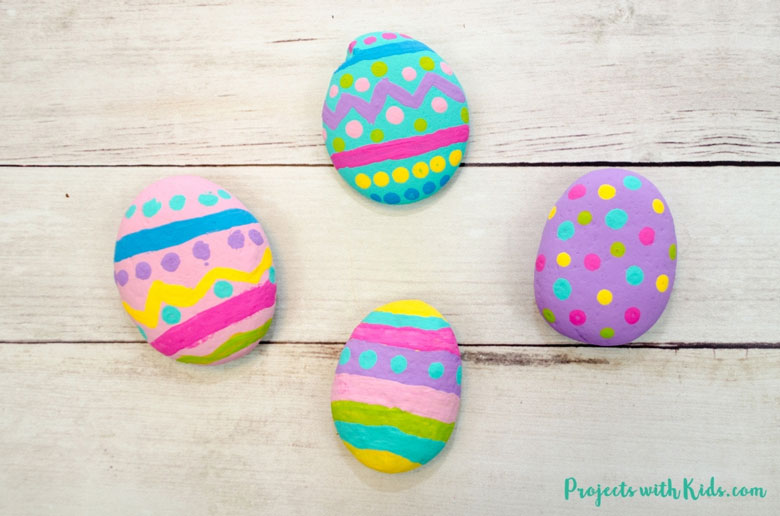 Easter Egg Rock Painting Craft Idea
