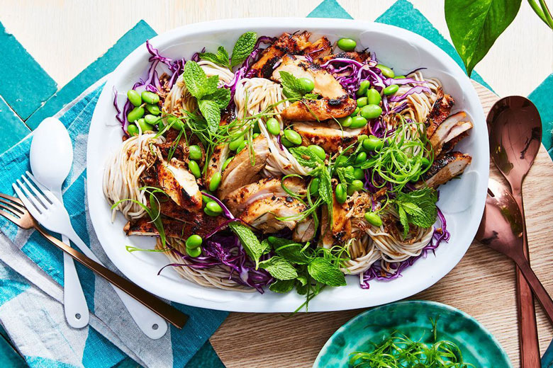 Miso Chicken and Cold Noodle Salad