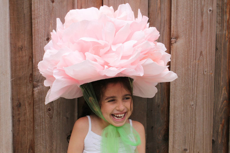 easy easter bonnet idea paper flower