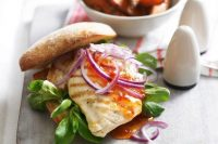 7 day family meal plan - chicken burgers sweet potato fries