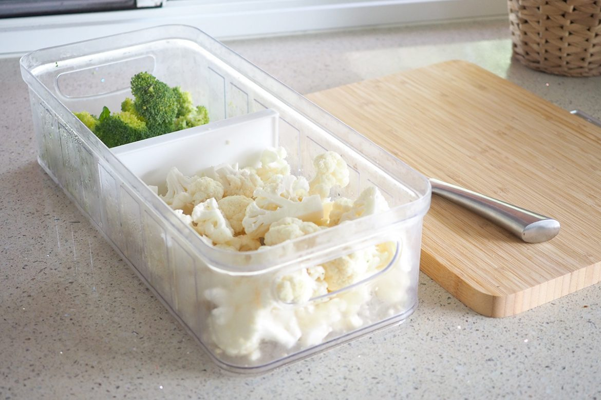 how to organise your fridge with containers