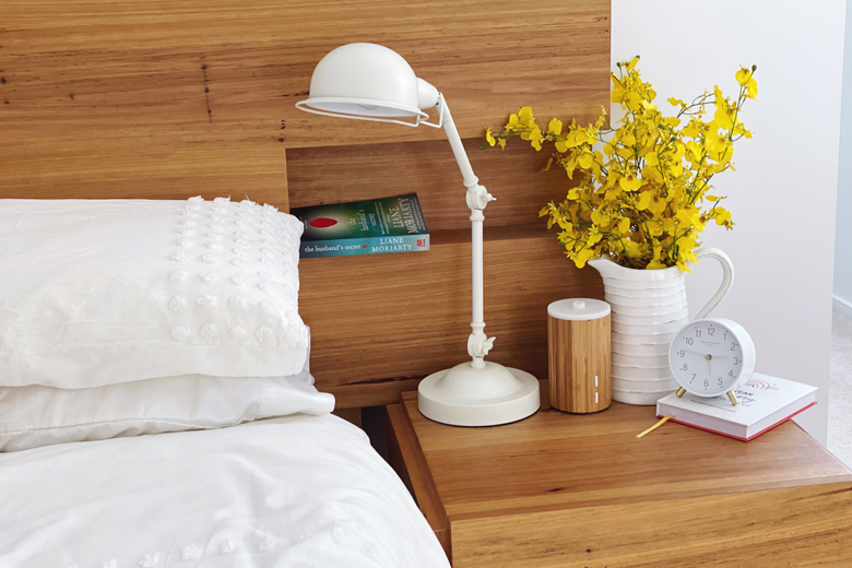declutter the bedside table