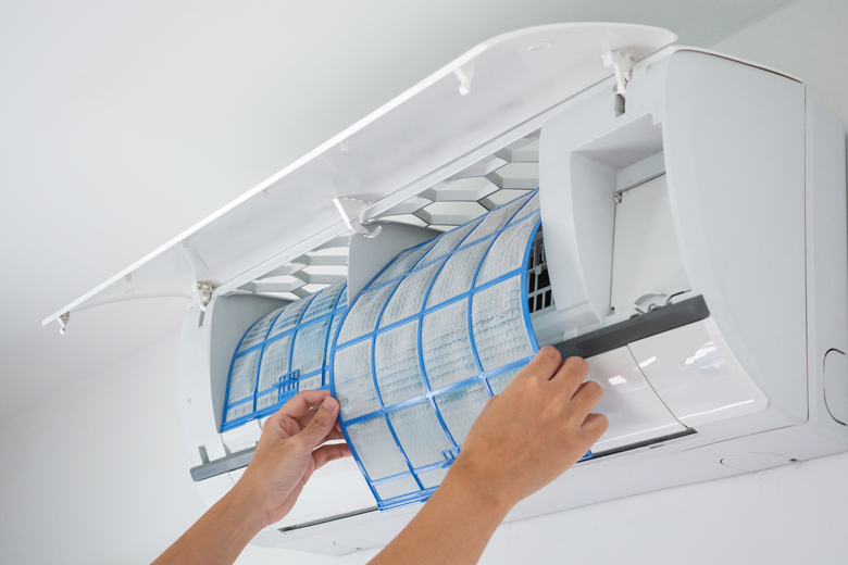 how often should I clean the filters on split system air conditioner