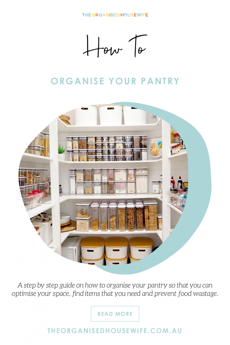 step by step guide to organising your pantry
