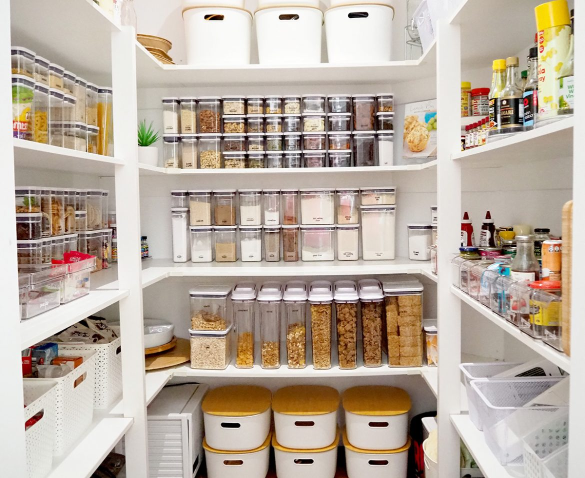 step by step guide to organise your pantry
