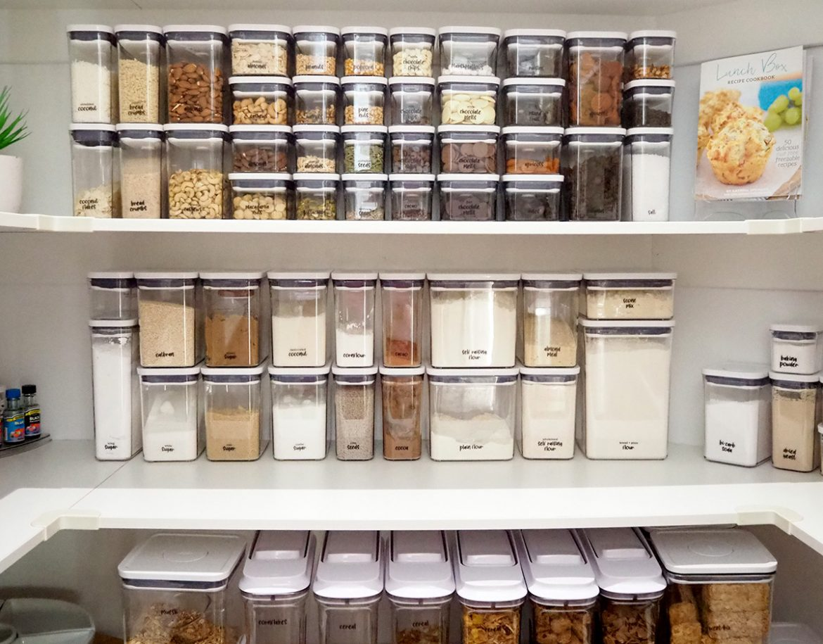 pantry storage containers and organisation