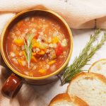 slow cooker lamb, barley and vegetable soup