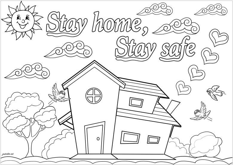 10 free colouring in pages for lockdown