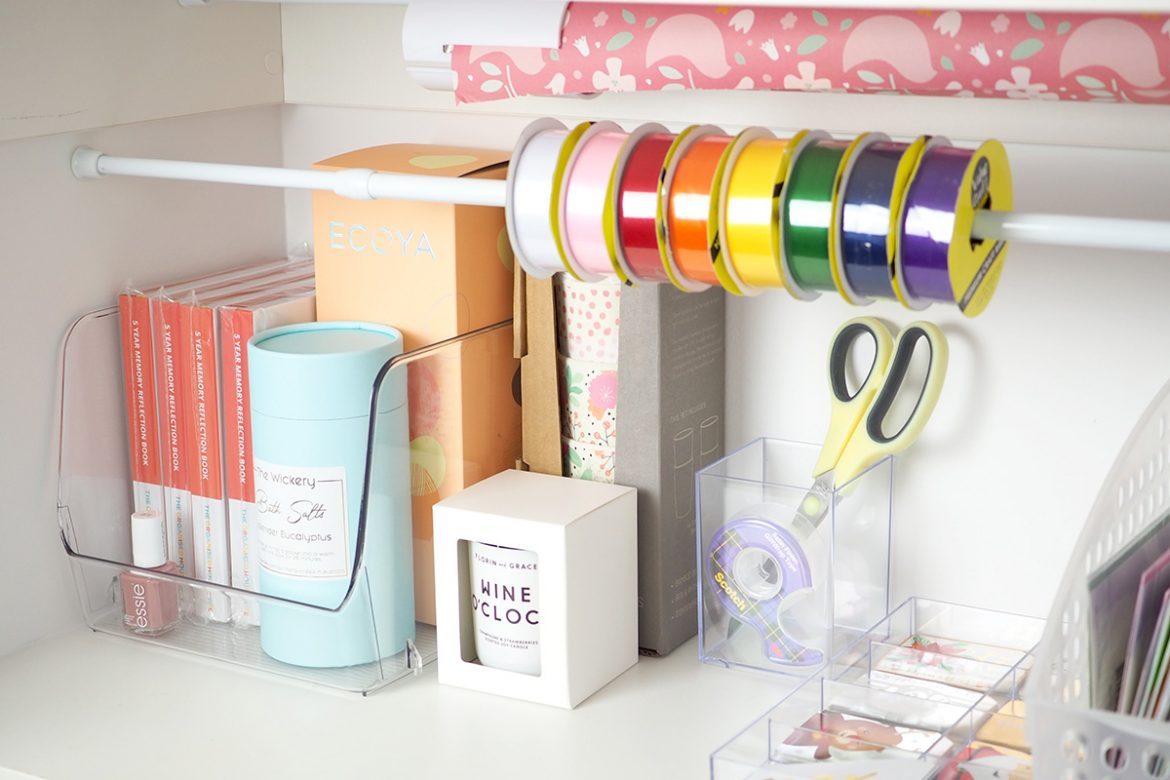 keep gifts in a gift cupboard