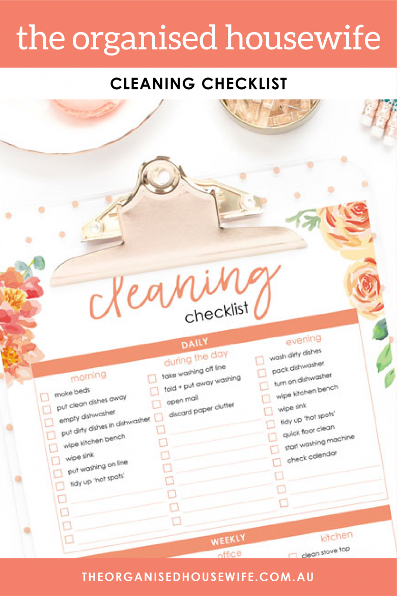 The Organised Housewife Cleaning Checklist